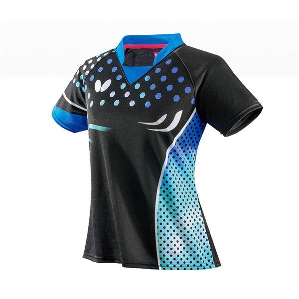 スポーツ用品・スポーツウェア 卓球用品 関連 卓球アパレル PATNARL SHIRT LADIES(パトナール・シャツ・レディース) 45479 スカイ M