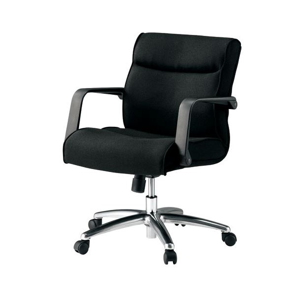 高機能チェア オフィス家具 BK ミドルバック オフィスチェア 関連 ブラック KB-MA072SL 役員イス