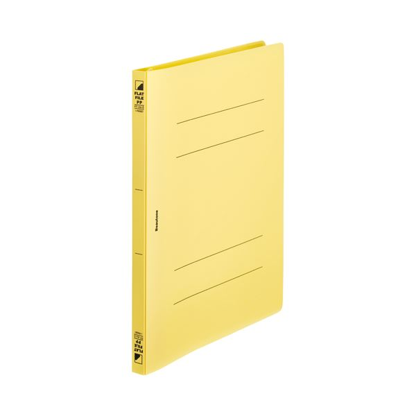 文具・オフィス用品 ファイル・バインダー 関連 (まとめ)フラットF PP ポケットA4S FF-A4SP-Y 10冊【×5セット】