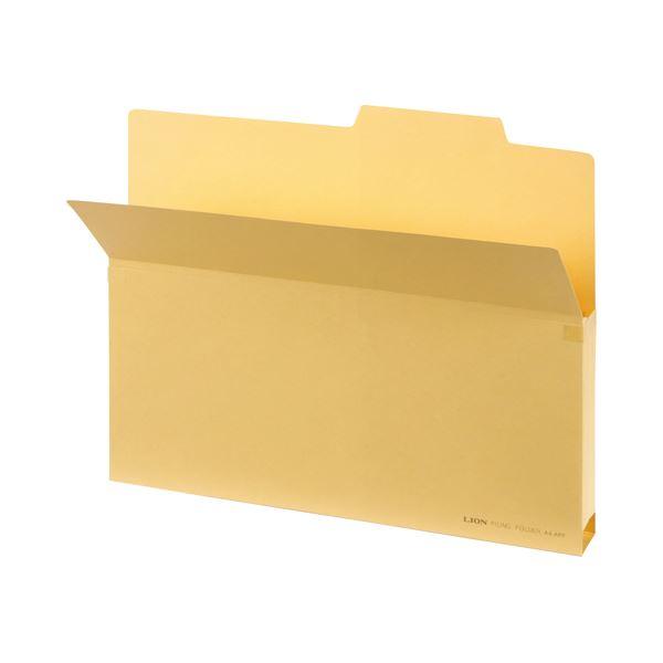 【薬用入浴剤 招福の湯 付き】マチ部分には破れ防止用の補強テープ付。 日用雑貨 (まとめ) ライオン事務器 持出しフォルダー B4クリーム B4-APF 1冊 【×50セット】