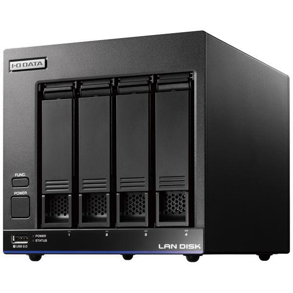 パソコン・周辺機器 関連 高性能CPU&NAS用HDD「WD Red」搭載 長期3年保証 中規模オフィス向け4ドライブビジネスNAS「LAN DISK X」 8TB 便利な引っ越し機能付 HDL4-X8