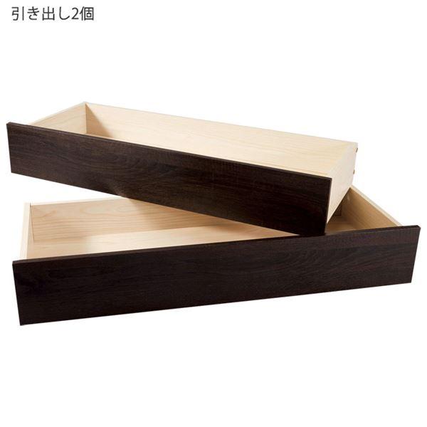 インテリア・寝具・収納 ベッド 畳ベッド 関連 手動ギア式リクライニング本格すのこベッド 引き出し2個 ライトブラウン