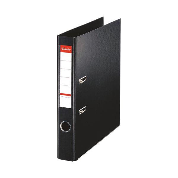(まとめ)レバーアーチファイル A4タテ350枚収容 背幅52mm ブラック 48077 1冊 【×10セット】