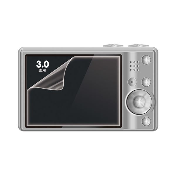 部品 カメラ・ビデオカメラ・光学機器用アクセサリー 三脚 関連 (まとめ買い)液晶保護光沢フィルム3.0型 DG-LCK30 1枚【×10セット】