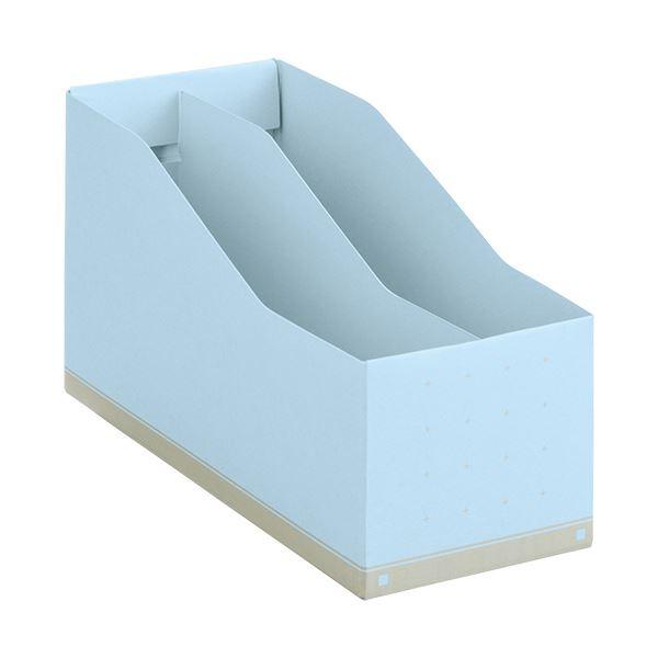 文具・オフィス用品関連 (まとめ)ボックスファイルA5ヨコ 背幅105mm ライトブルー BF-877 1個 【×10セット】
