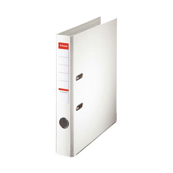 (まとめ)レバーアーチファイル A4タテ350枚収容 背幅52mm ホワイト 20009 1冊 【×10セット】