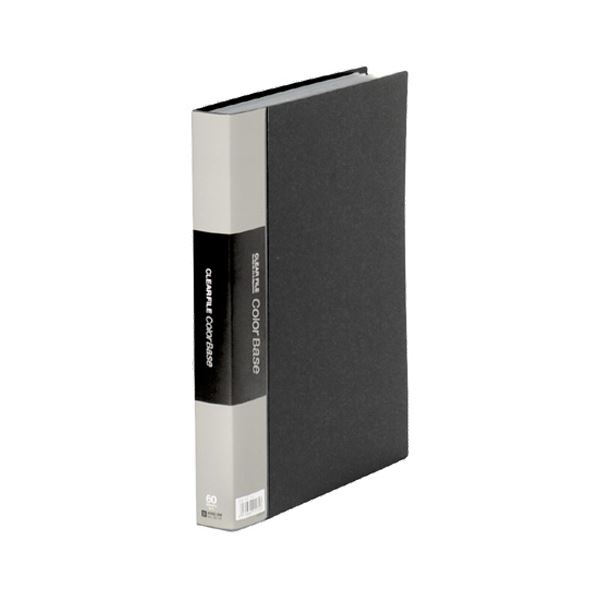 カラーベーストリプルA4タテ 60ポケット 背幅35mm 黒 132-3C 1セット(5冊)