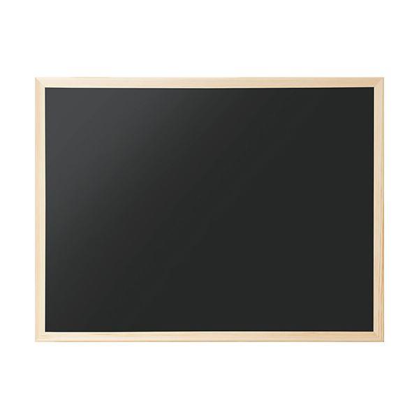 【薬用入浴剤 招福の湯 付き】天然木フレームのシンプルなブラックボード 日用雑貨 (まとめ) ナカバヤシ ウッドカラーボードCBM-E6247 1枚 【×10セット】