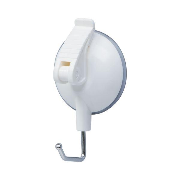 文具・オフィス用品関連 (まとめ) レバー式吸盤フック 中耐荷重3kg QHC-09シロ 1個 【×30セット】