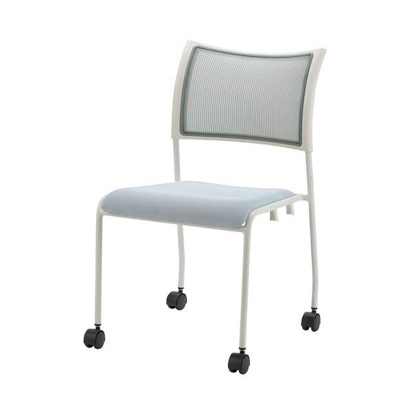 オフィス家具 オフィスチェア 高機能チェア 関連 会議イス GKM-50 ホワイト 肘無キャスタ付