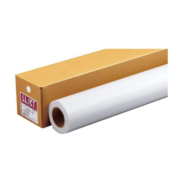 パソコン・周辺機器 PCサプライ・消耗品 コピー用紙・印刷用紙 関連 LLJET光沢 塩ビグレー糊EX1370mm×30m LLSPEX133 1本