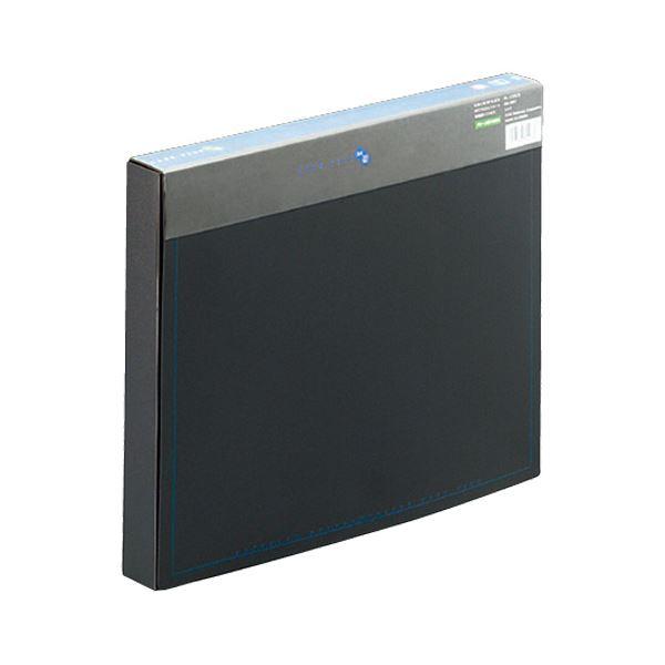 外出時に便利な中身の見えない不透明タイプ。 (まとめ) プラス ケースファイル 再生PP A4背幅35mm ブラック(背見出し色ブルー) FL-132CE 1冊 【×30セット】