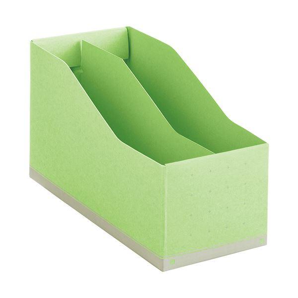 収納用品 マガジンボックス・ファイルボックス 関連 (まとめ)ボックスファイルA5ヨコ 背幅105mm 緑 BF-877 1個 【×10セット】