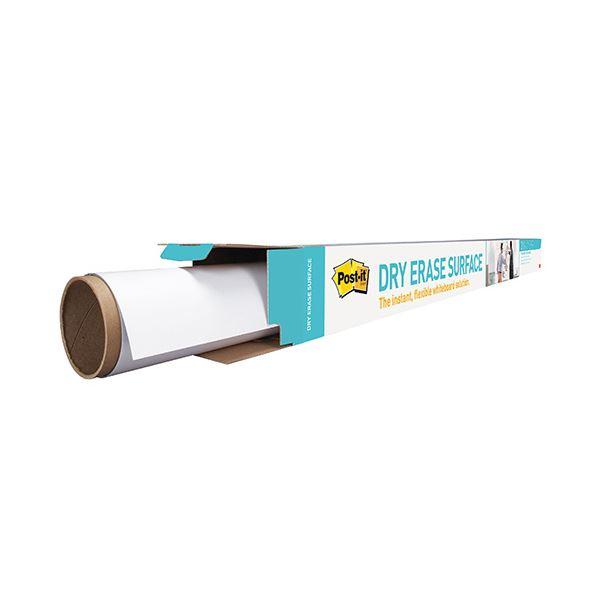 ホワイトボード・白板関連 3M ポスト・イットホワイトボードフィルム 1.2×0.9m ホワイト 洗えるイレーサー 1枚入り DEF 4×3 1枚