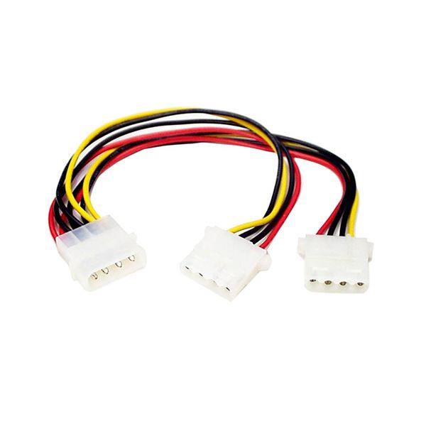 電源コード・延長コード関連 (まとめ買い)IDE電源2分岐ケーブル 23cm ペリフェラル電源(オス)-ペリフェラル電源(メス)×2 PYO2L 1本【×10セット】