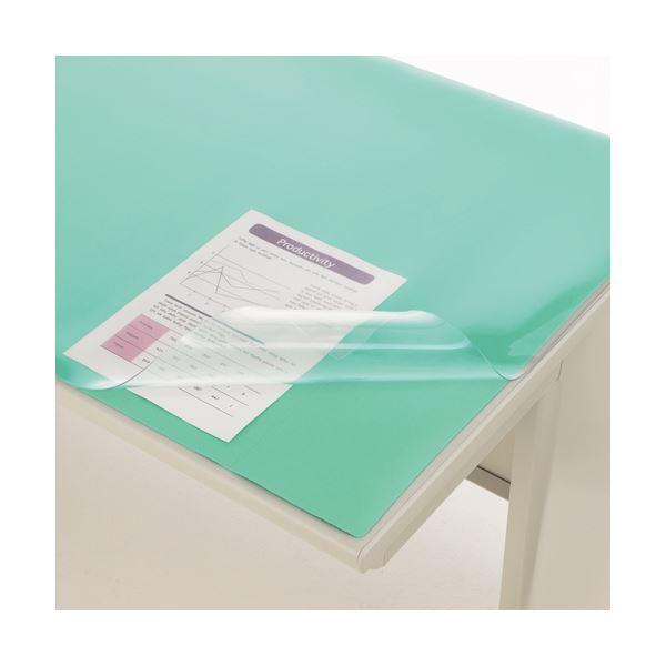 文具・オフィス用品関連 デスクマット PVC製光沢仕上 ダブル(グリーンマット付) 900×620×1.5mm No.7-PS 1枚