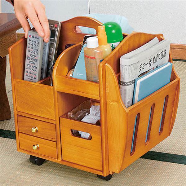 インテリア・寝具・収納 収納家具 関連 テーブルまわりの便利なワゴン ナチュラル