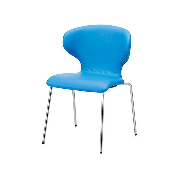 オフィス家具関連 FRENZ 会議イス PN-N65L ブルー 固定脚
