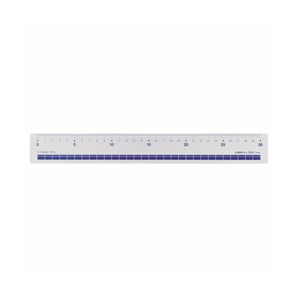 文房具・事務用品 製図用品 定規 関連 (まとめ買い)再生アクリル直線定規30cm No.10MR 1セット(10本)【×2セット】