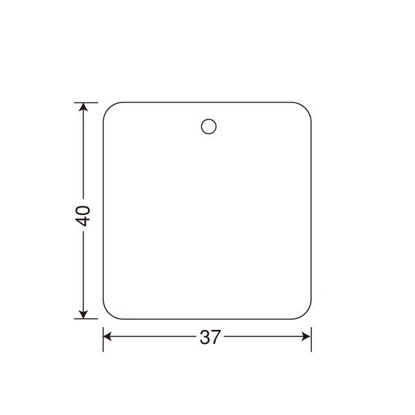 スマートフォン・携帯電話用アクセサリー スキンシール 関連 タグ JIS11号 白無地40×37mm 角丸 244010511 1箱(30000枚:3000枚×10巻)
