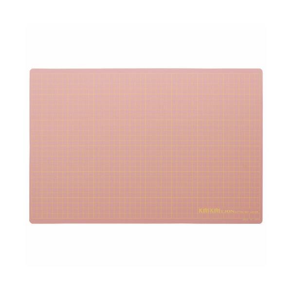 カッター関連 (まとめ) ライオン事務器 カッティングマットKIRIKIRI 再生PVC製 450×300×1.2mm ピンク CM-45K 1枚 【×5セット】