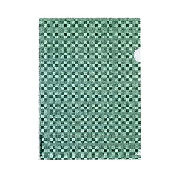 (まとめ)クリヤーホルダー(セキュリティビュー) A4 緑 フ-SS750G 1セット(5枚) 【×10セット】