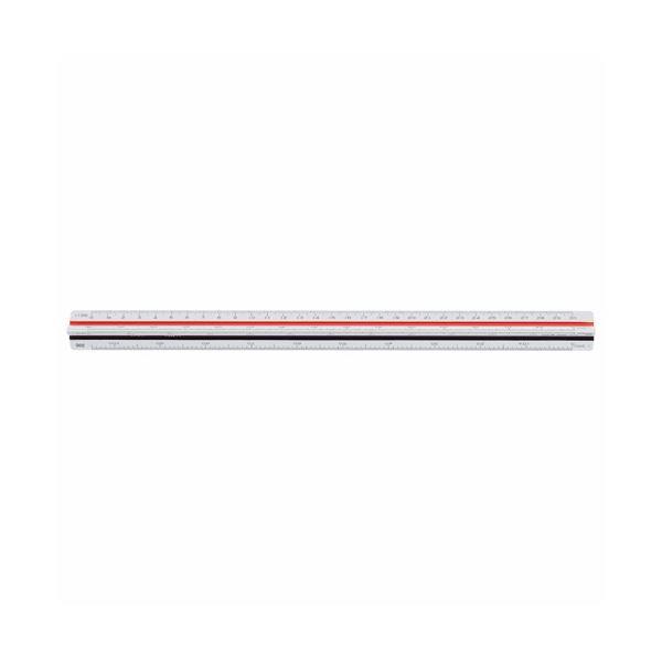 文房具・事務用品 製図用品 定規 関連 (まとめ買い)三角スケール 土木用300mm No.544 1個【×2セット】