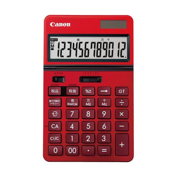 電卓 電卓本体 関連 (まとめ買い)ビジネス電卓KS-1220TU-RD フリーアングルチルト&大画面液晶 12桁 卓上タイプ レッド 0932C0041台【×2セット】