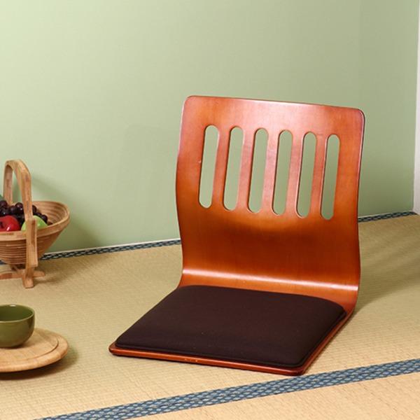 生活 雑貨 通販 座椅子/和座いすクッション付き 木製 PY-307BS BR ブラウン 【2個セット】【代引不可】