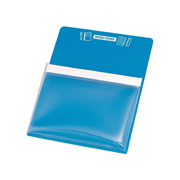 文房具・事務用品 マグネット 関連 (まとめ) マグネットポケットB5用青 MGP-B5-B 1枚 【×5セット】