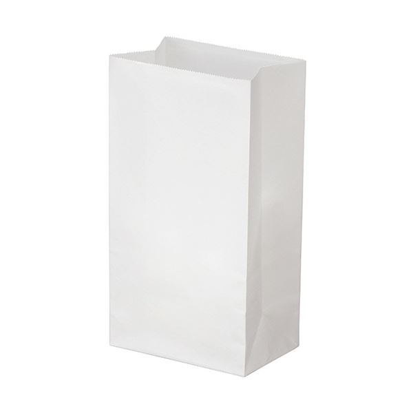 文房具・事務用品 ギフトラッピング用品 袋・ギフトバッグ 関連 (まとめ) 角底袋 4号ヨコ130×タテ235×マチ幅80mm 晒 1パック(500枚) 【×5セット】