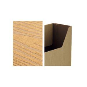 ブラウン (WOODY) ボックスファイル 【×3セット】 A4ヨコ (まとめ) 背幅100mm (15冊:3冊×5パック) 1セット