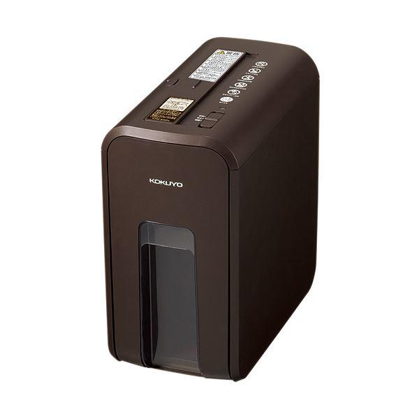 文房具・事務用品 はさみ・裁断用品 手動シュレッダー 関連 デスクサイドシュレッダー(RELISH) A4 クロスカット ビターブラウン KPS-X80S 1台