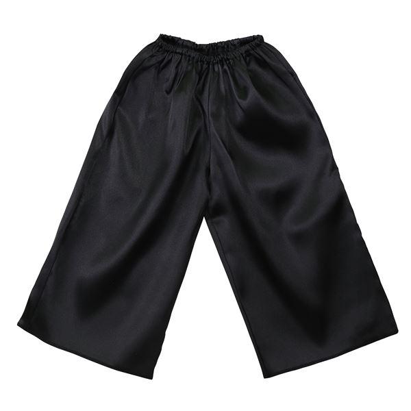 生活 雑貨 通販 (まとめ)ソフトサテンズボン Jサイズ 黒 【×10個セット】