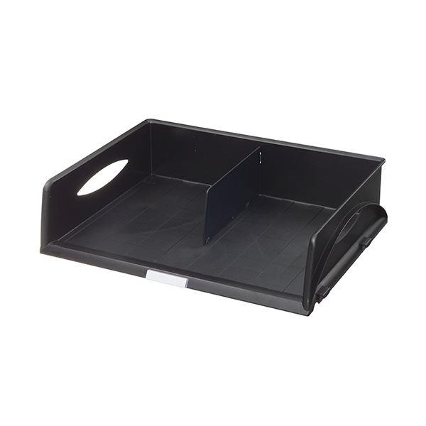 インテリア・寝具・収納 オフィス家具 関連 (まとめ) ソートトレー A3ヨコ ブラック5232-00-95 1個 【×2セット】