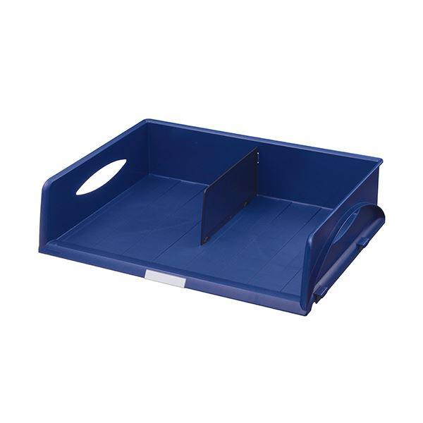 インテリア・寝具・収納 オフィス家具 関連 (まとめ) ソートトレー A3ヨコ ブルー5232-00-35 1個 【×2セット】