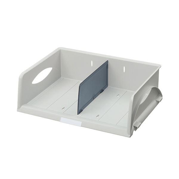 インテリア・寝具・収納 オフィス家具 関連 (まとめ) ソートトレー A4ヨコ グレー5230-00-85 1個 【×2セット】