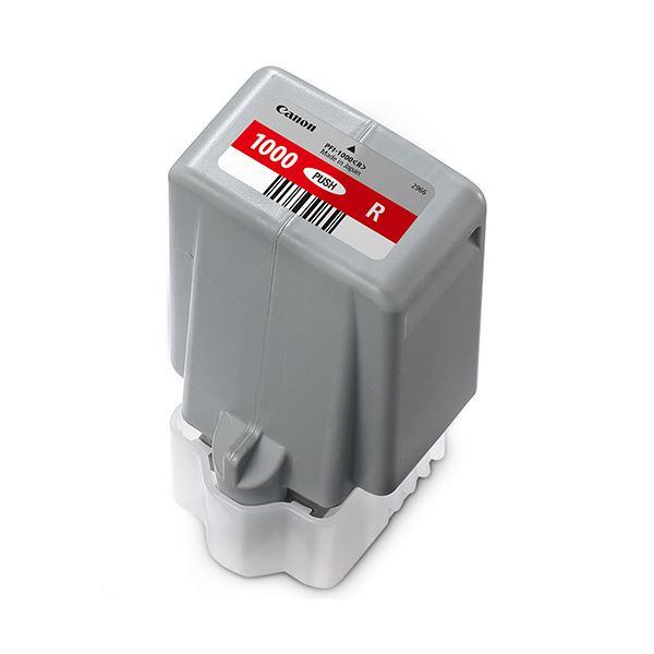 パソコン・周辺機器 PCサプライ・消耗品 インクカートリッジ 関連 インクタンクPFI-1000R レッド 80ml 0554C004 1個