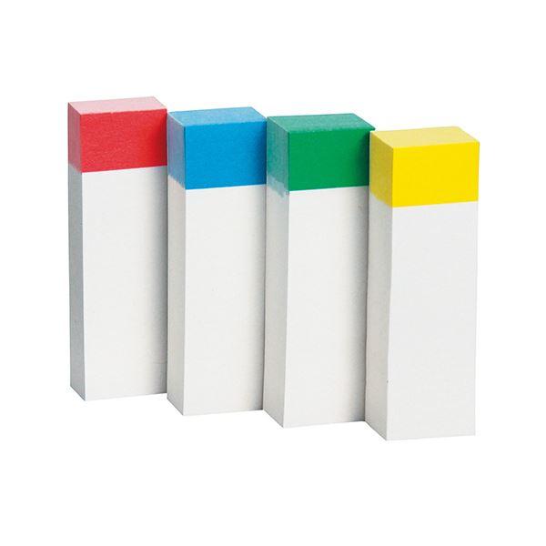 文具・オフィス用品関連 (まとめ) ふせん 50×15mm色帯4色 1パック(20冊) 【×10セット】