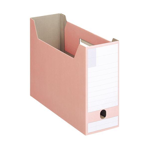 収納用品 マガジンボックス・ファイルボックス 関連 (まとめ)ボックスファイルダンボール製 A4ヨコ型ピッタリサイズ 背幅102mm ピンク BF-432D 1冊 【×20セット】