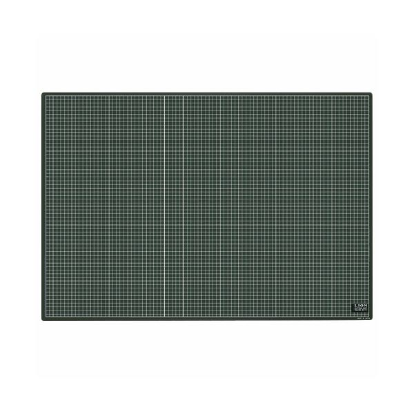 生活 雑貨 通販 (まとめ)ライオン事務器 カッティングマット再生PVC製 両面使用 900×620×3mm 黒/黒 CM-9011 1枚【×3セット】