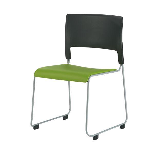 オフィス家具 オフィスチェア 高機能チェア 関連 会議イス MO-17 GR ブラック/グリーン