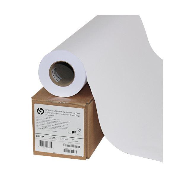 パソコン・周辺機器 PCサプライ・消耗品 コピー用紙・印刷用紙 関連 スタンダード速乾性光沢フォト用紙24インチロール 610mm×30m Q6574A 1セット(2本)