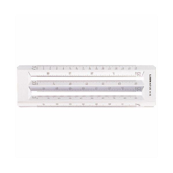 文房具・事務用品 製図用品 定規 関連 (まとめ買い)ヘキサスケール全長210mm×厚さ4mm 再生アクリル樹脂 H-15 1個【×5セット】