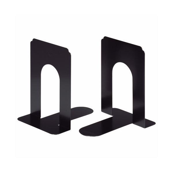 生活 雑貨 通販 (まとめ) ライオン事務器 ブックエンド T型 大ブラック NO.7 1組(2枚) 【×10セット】