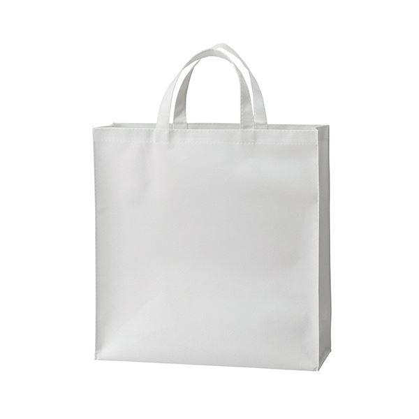 文房具・事務用品 ギフトラッピング用品 関連 (まとめ) 不織布バッグ 小ヨコ320×タテ330×マチ幅110mm ホワイト 1パック(10枚) 【×5セット】