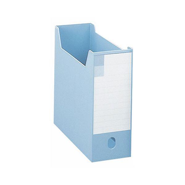 収納用品 マガジンボックス・ファイルボックス 関連 (まとめ)ボックスファイルA4ヨコ 背幅102mm ブルー BF-32M 1個 【×5セット】