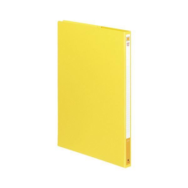 収納用品 マガジンボックス・ファイルボックス 関連 (まとめ)ケースファイル A4タテ背幅17mm 黄 フ-900NY 1冊 【×30セット】