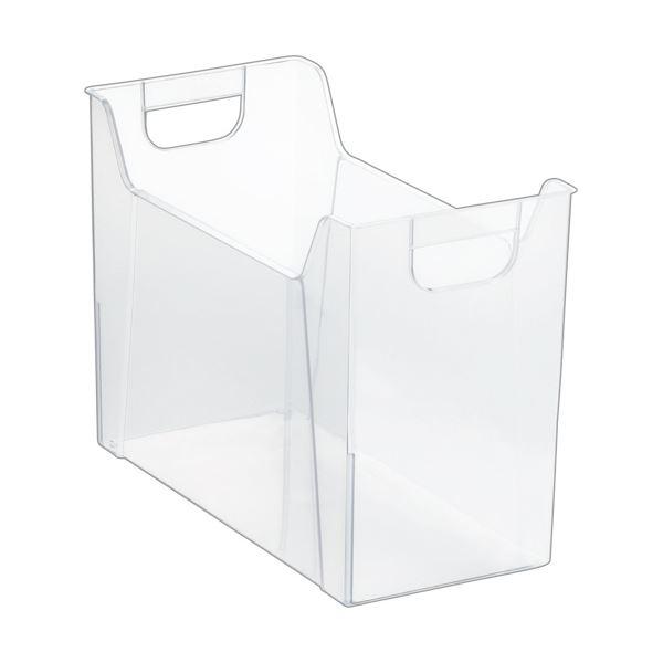 収納用品 マガジンボックス・ファイルボックス 関連 (まとめ)ファイルボックス A4クリア FB-EW04-CR 1個 【×10セット】