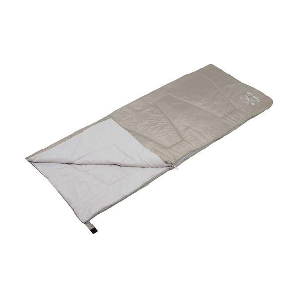 【キャプテンスタッグ】 クッションシュラフ/寝袋 【カーキ】 幅80cm 洗える 連結可 自然開放防止 『モンテ』 〔アウトドア〕